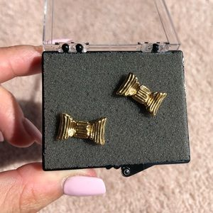 KATE SPADE NEW YORK gold bow studs